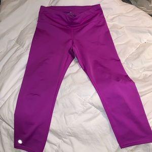 Purple never worn Capri cactus flower leggings